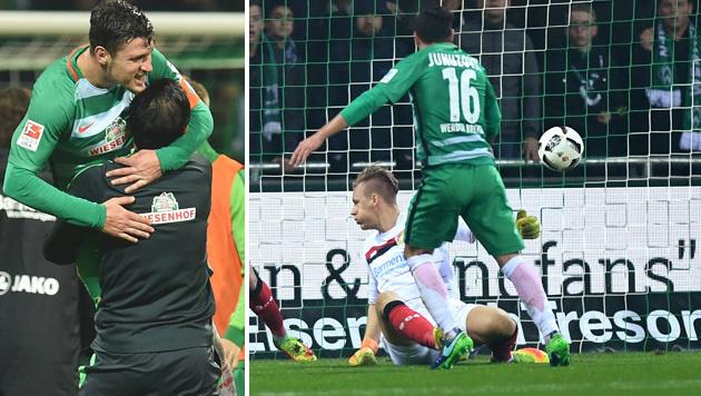 Video: Werder Bremen siegt dank Junuzovic-Gala (Bild: GEPA)