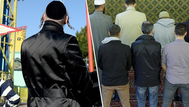 """""""Judenhass spielt für junge Muslime große Rolle"""" (Bild: APA/ROLAND SCHLAGER, APA/HERBERT NEUBAUER)"""