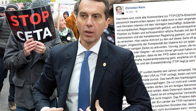 """""""CETA-Ablehnung hätte Konsequenzen gehabt"""" (Bild: AP/Van der Hasselt, AP, facebook.com)"""