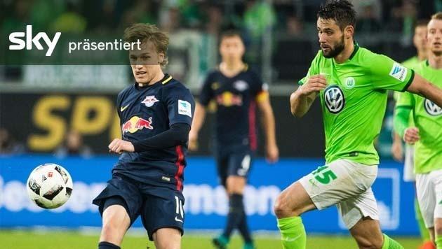 Leipzig besiegt Wolfsburg mit 1:0 - das Video (Bild: APA/AFP/ODD ANDERSEN)