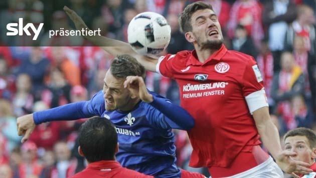 Mainz besiegt Darmstadt mit 2:1 - das Video (Bild: AP)