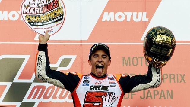 MotoGP: Marc Marquez sichert sich WM-Titel (Bild: AFP)