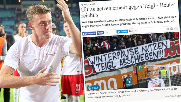 RB-Leipzig-Wut: Teigl von eigenen Fans beschimpft (Bild: Augsburger Allgemeine, GEPA)