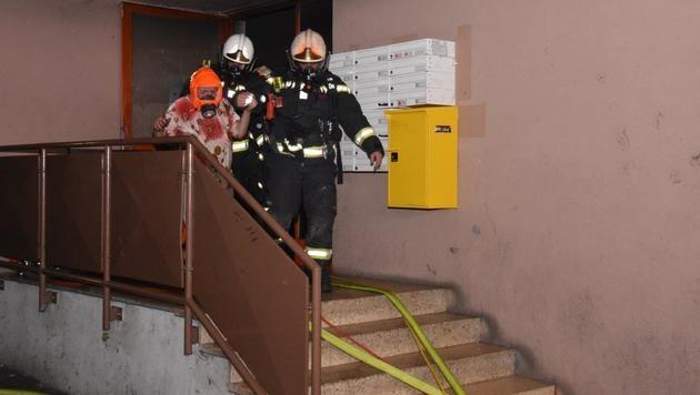 Zehn Verletzte bei Kellerbrand in Wien-Donaustadt (Bild: MA68/Lichtbildstelle)