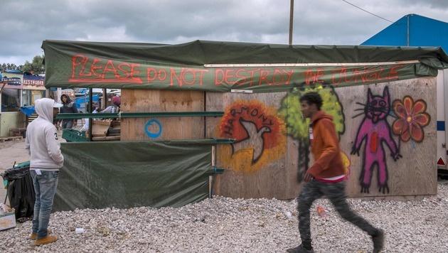 """Das """"Dschungel""""-Camp steht vor der Räumung. (Bild: APA/AFP/PHILIPPE HUGUEN)"""