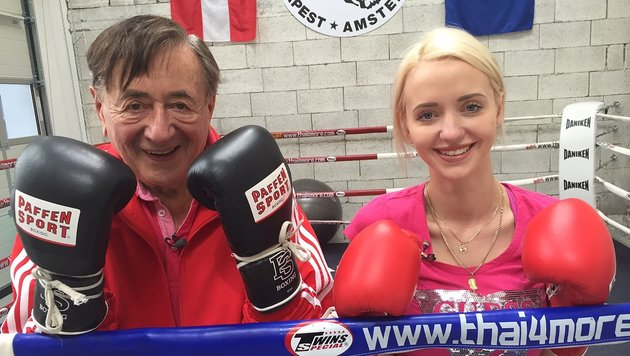 Richard und Cathy Lugner im Infight (Bild: ATV)
