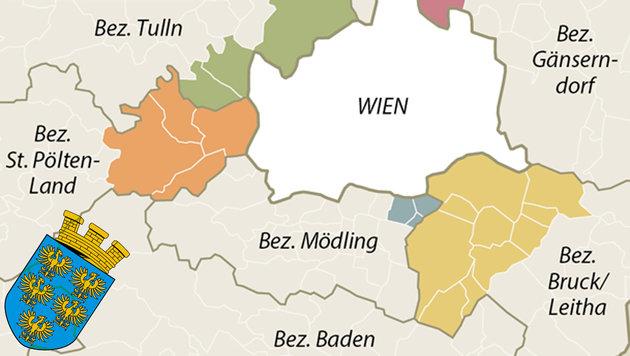 Aus für Wien-Umgebung: Bezirksauflösung naht (Bild: APA-Grafik, thinkstockphotos.de)