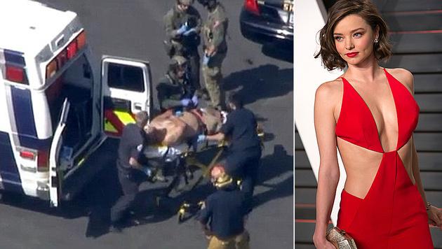 Schock für Miranda Kerr: Ein Einbruch in ihre Villa endete blutig. (Bild: KTLA, APA/AFP/ADRIAN SANCHEZ-GONZALEZ)