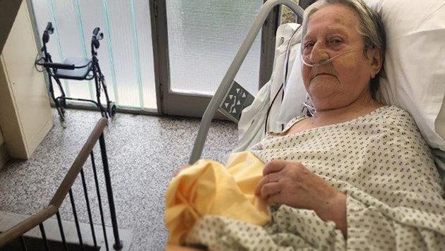 Ihr Rollator wurde vom Gang entfernt: Jetzt liegt Rosa F. (83) im Spital. (Bild: WIFF)