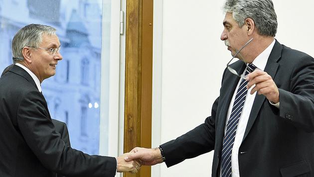 Sozialminister Alois Stöger (SPÖ) und Finanzminister Hans Jörg Schelling (ÖVP) (Bild: APA/Robert Jäger)