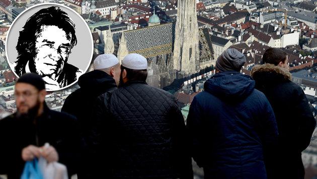 """... an die jungen """"gefährdeten"""" Muslime (Bild: APA/dpa/Monika Skolimowska, APA/HELMUT FOHRINGER)"""