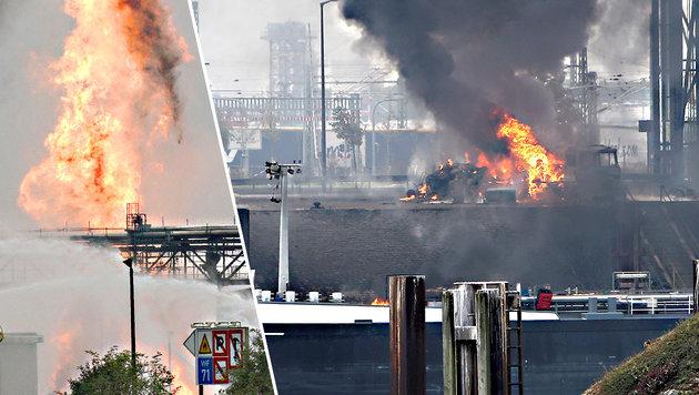 Explosion bei BASF: Tote und Schwerverletzte (Bild: APA/dpa/Michael Deines, APA/AFP/dpa/Frank Rumpenhorst)