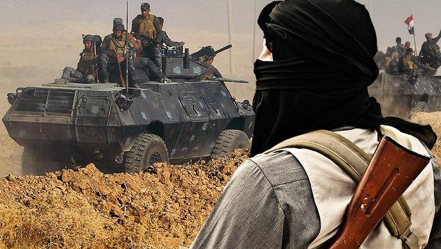 """Mossul-Offensive treibt IS-Kämpfer nach Europa"" (Bild: APA/AFP/AHMAD AL-RUBAYE, thinkstockphotos.de)"