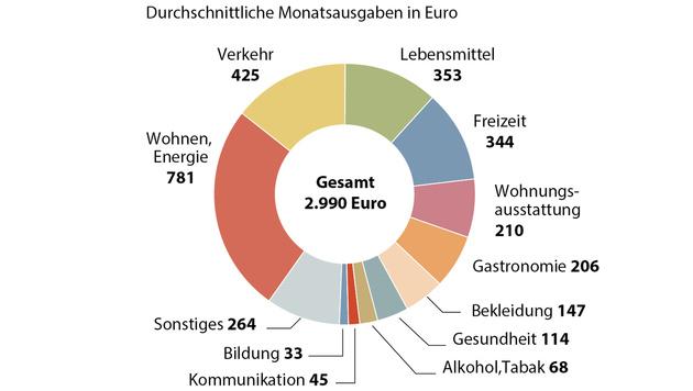 Österreicher geben pro Monat im Schnitt 1970 € aus (Bild: APA)