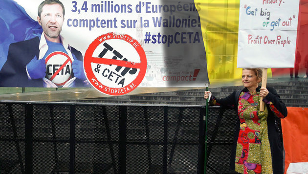 CETA: Wallonen lehnen auch Nachbesserungen ab (Bild: EPA/JULIEN WARNAND, thinkstockphotos.de)