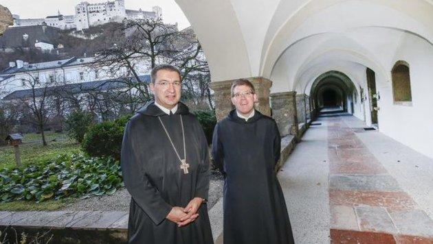 Erzabt Korbinian Birnbacher muss umorganisieren. Prior Virgil wird bald Dreifach-Pfarrer. (Bild: Markus Tschepp)