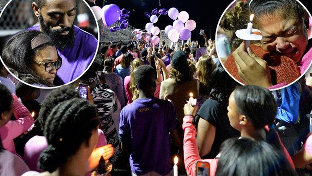 Tausende trauern um getötete Tochter von Tyson Gay (Bild: AP/Timothy D. Easley)
