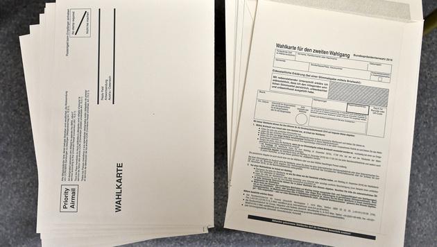 Hofburg-Wahl: Stimmzettel und Wahlkarten fertig (Bild: APA/HERBERT NEUBAUER)
