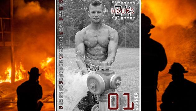 """""""Wiens Feuerwehrmänner machen sich nackig! (Bild: Feuerwehrkalender der Wiener Berufsfeuerwehr)"""""""