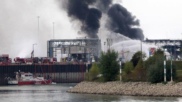 BASF-Explosion: Weitere Leiche entdeckt (Bild: APA/AFP/DANIEL ROLAND)