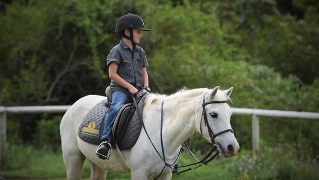 Für eigenes Pony: Bub verkaufte jahrelang Eistee (Bild: facebook.com/Juliana Kent)