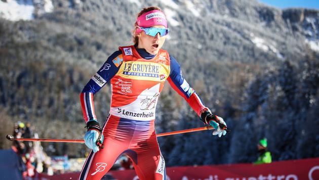 Langläuferin Johaug vorerst 2 Monate suspendiert (Bild: GEPA)