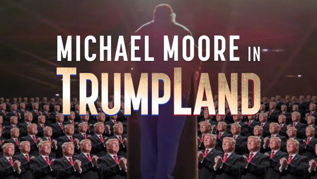 """Das Filmplakat zu """"Michael Moore in Trumpland"""" (Bild: Twitter.com/MMFlint)"""