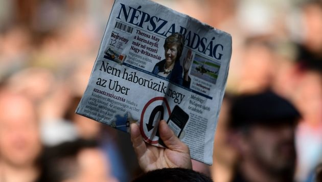 """""""Nepszabadsag"""" soll an regierungsnahe Firma gehen (Bild: AFP)"""