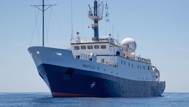 "Das Forschungsschiff ""Nautilus"" (Bild: Ocean Exploration Trust/Institute for Exploration)"