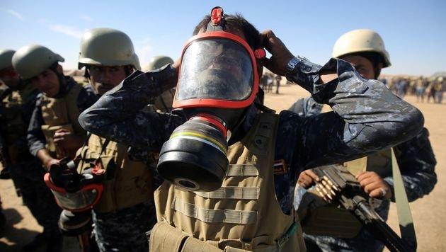 Die irakischen Truppen bereiten sich auf alle Angriffsformen vor. (Bild: APA/AFP/AHMAD AL-RUBAYE)
