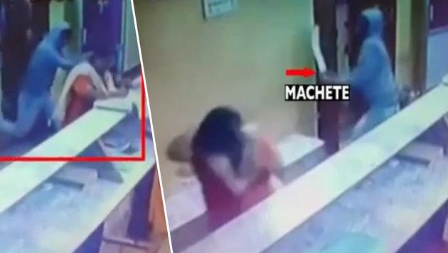 21 Hiebe mit Machete - Frau überlebt Horrorangriff (Bild: YouTube.com)