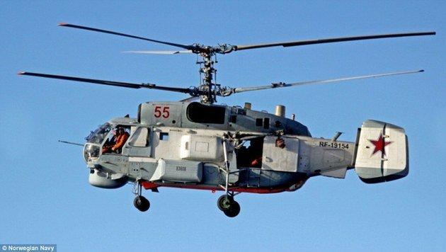 Dieser Hubschrauber des Typs Kamow KA-27 wird im Kampf gegen U-Boote eingesetzt. (Bild: Norwegische Marine)