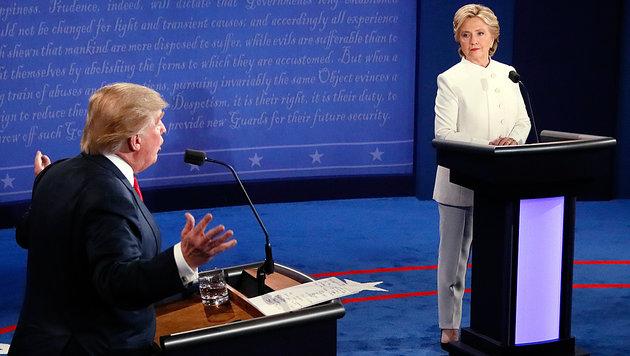 """Trump im TV-Finale: """"Alles garantiert manipuliert"""" (Bild: Associated Press)"""