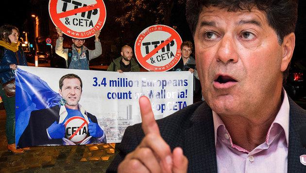 Unifor-Chef Jerry Dias (Bild: APA/AFP/Belga/NICOLAS LAMBERT, AP)
