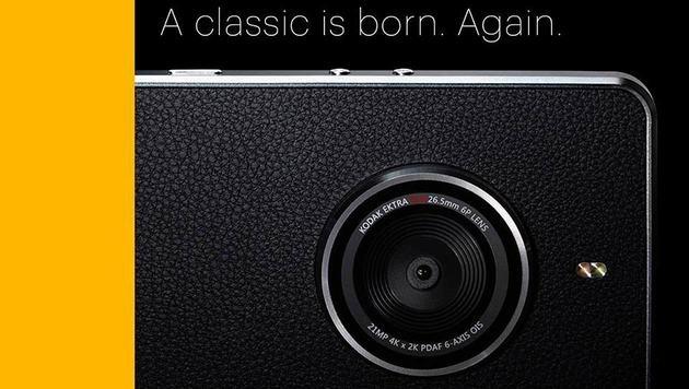 """Kodak Ektra"": Foto-Pionier stellt Smartphone vor (Bild: Kodak)"