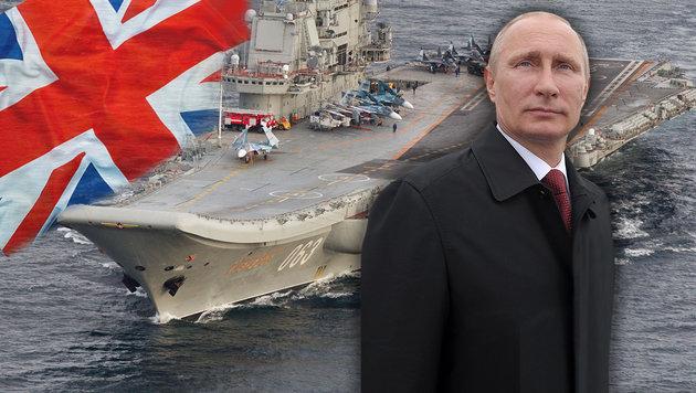 """Briten schlagen Alarm: """"Die Russen kommen"""" (Bild: thinkstockphotos.de, APA/AFP/forsvaret/forsvaret, EPA)"""