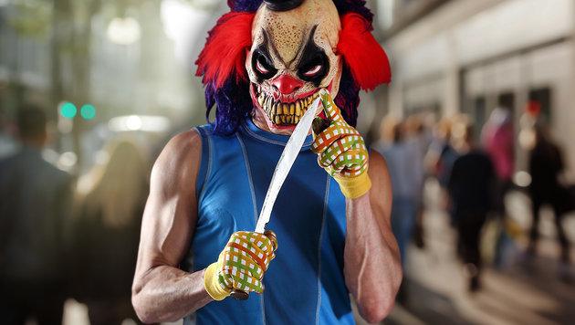 D: Grusel-Clowns stachen auf gehörlosen Mann ein (Bild: thinkstockphotos.de)