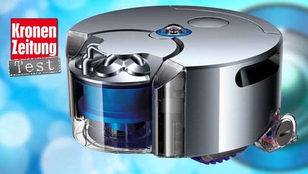 Dyson 360 Eye: Der Saugroboter mit Kettenantrieb (Bild: Dyson, thinkstockphotos.de)