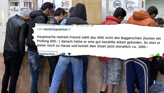 Flüchtlinge verweigern Arbeit - und was jetzt? (Bild: APA/HERBERT NEUBAUER, krone.at)