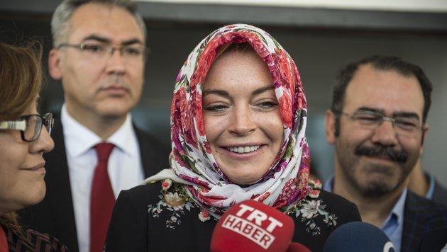 Lindsay Lohan auf Besuch im Flüchtlingslager Gaziantep (Bild: Viennareport)
