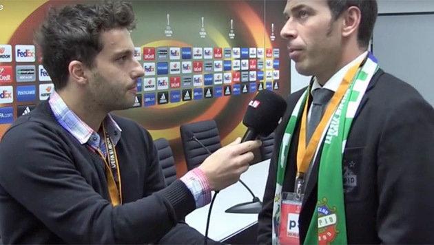 Rapid-Sassuolo: Die letzten Infos aus dem Stadion! (Bild: krone.tv)