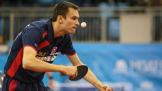 Tischtennis-EM: Stefan Fegerl souverän (Bild: GEPA)