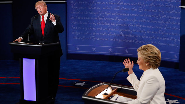 "Trump im TV-Finale: ""Alles garantiert manipuliert"" (Bild: Associated Press)"