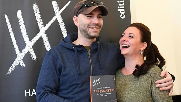 Hannes Führinger mit Ehefrau Lisa (Bild: APA/HELMUT FOHRINGER)