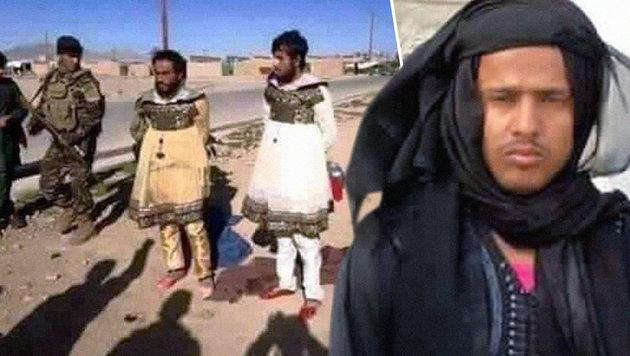 IS-Schlächter fliehen als Frauen verkleidet (Bild: twitter.com)