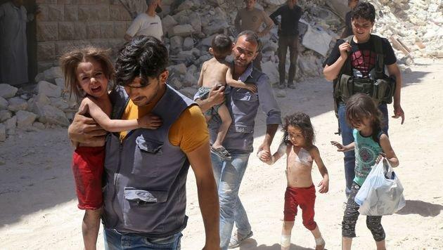 Selbstmordversuche unter Kindern in Aleppo (Bild: APA/AFP/BARAA AL-HALABI)