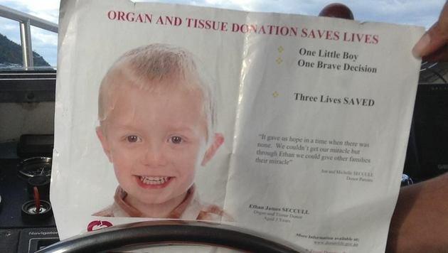 Organe des kleinen Ethan retteten 3 Menschenleben (Bild: facebook.com/EthanJimmySeccullFoundation)