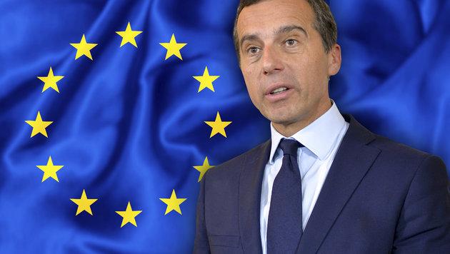 "Kanzler Kern: ""Die EU ist jetzt am Tiefpunkt"" (Bild: APA/HERBERT NEUBAUER, thinkstockphotos.de)"