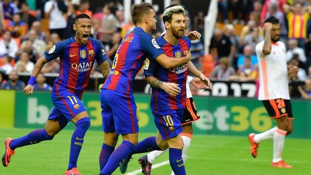 Messi-Elfer in Minute 93 sichert Barcelona-Sieg! (Bild: AFP or licensors)
