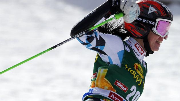 Die Sensation des Tages lieferte Mikaela Shiffrin mit Platz vier. (Bild: AP)